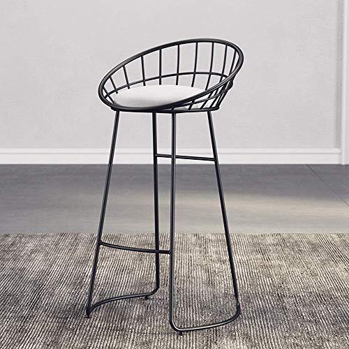 Stoelen en krukken Bar stoel lounge stoel ijzeren stoel bar stoel goud hoge kruk modern eetkamerstoel ijzerdraad stoel ronde staaf kruk met voetsteun bar stoel familie keuken barkruk rugleuning stoel