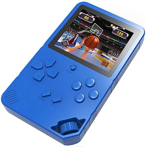 Bornkid 16 bits Consola de Juegos de Mano para Niños y Adultos con 220 Clásico Interesante Videojuegos 3.0 \'\' Pantalla Grande USB Recargable Seniors Electrónicos Juego (Azul)