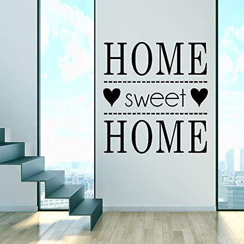 ASFGA Sweet Home Wallpapers Vinyl Wandtattoos Familie Zitate Sprüche Wandaufkleber PVC Abnehmbare Home Decor Raum Poster 43 * 45cm