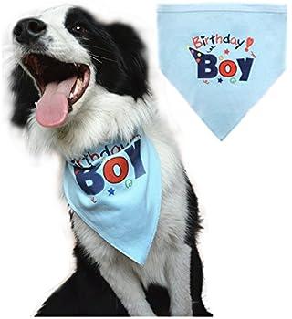 Chien anniversaire Bandana Écharpe pour animal domestique pour chiens Small Medium Large Accessoires Robe