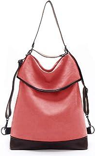 KALIDI Canvas Tasche Damen Rucksack Handtasche damen Vintage Umhängentasche Anti Diebstahl Tasche Leder Schultertasche Hob...