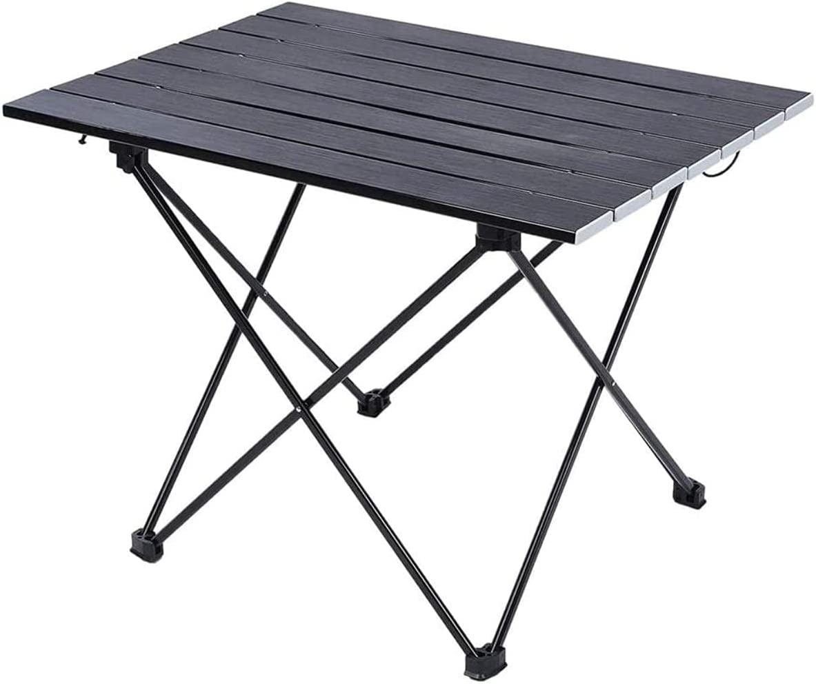 XKun Portable Aluminum Long-awaited Compact Alloy Camping Cheap mail order specialty store Table Tab
