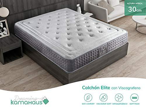 Dreaming Kamahaus Elite Colchón, con Viscografeno-Soft, 90x190