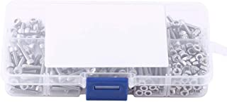 مسامير مقبس سداسي ، 340 قطعة M3 من الفولاذ المقاوم للصدأ SS304 ، مجموعة متنوعة من البراغي والصواميل ذات غطاء الرأس والمسام...