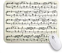 ECOMAOMI 可愛いマウスパッド 楽譜 滑り止めゴムバッキングマウスパッドノートブックコンピュータマウスマット