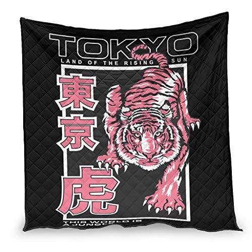 IOVEQG Edredón de aire acondicionado Japón Tokio tigre rojo súper suave ligero bebé manta para sofá dormitorio todas las estaciones blanco 100x150cm
