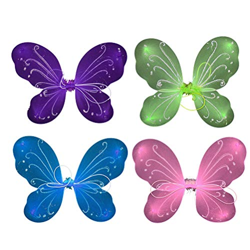 YeahiBaby 4pcs alas de Hadas de la Mariposa de Hadas de Lujo de la Princesa del Traje de la Danza de Rendimiento de Las alas
