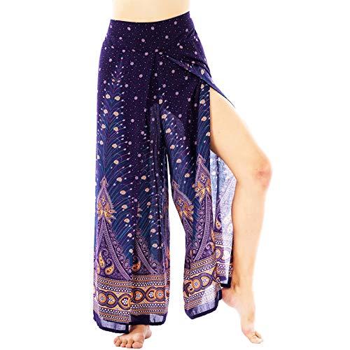 Lofbaz Slit Leg Palazzo Pantalones de Yoga para Mujeres niñas Maternidad Verano Playa Pantalones de Cintura...