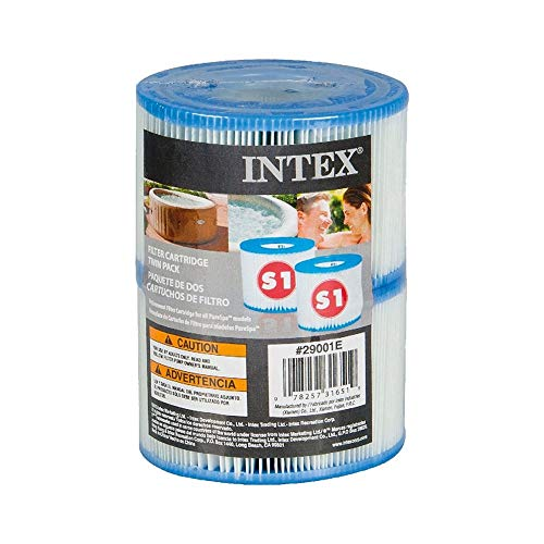 Intex PureSpa Greywood Deluxe 85in x 25in Outdoor Portable Inflatable 6 Person Round Hot Tub Spa with 170 Bubble Jets, Hardwater Treatment, Filter, and 6 Type S1 Pool Filter Cartridges