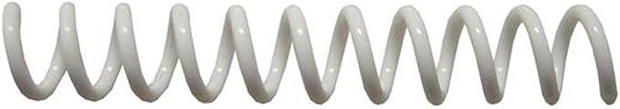Spiral Binding Coils 6mm PMS 805 C Neon Orange pk of 100 4:1 /¼ x 12