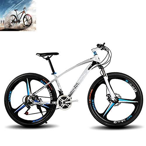 CAGYMJ Bicicletta Sportiva da Montagna, Mountain Bike per Uomini E Donne Adulti, 26 Pollici 21 velocità,Bianca