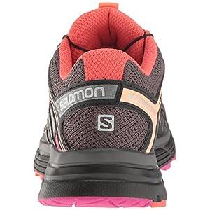 Salomon Women's X-Mission 3 Trail Running Shoes, Magnet/Black/Rose Violet, 5 D US