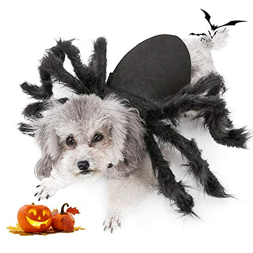 Spider Dog Costume, Pet Halloween Cosplay Costumes for Cat Dog, Funny Party Dress up Accessories...