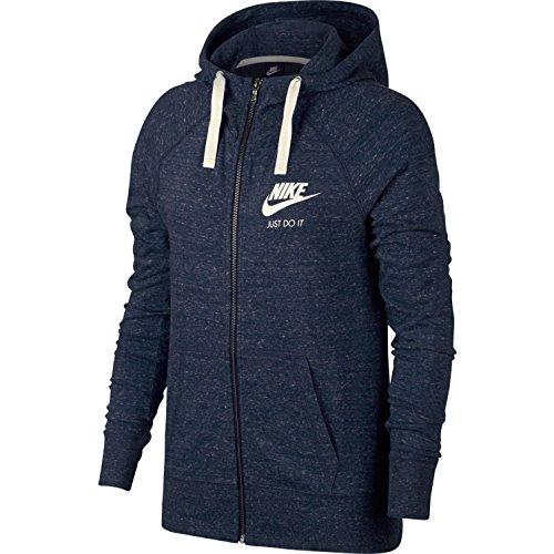 Nike W NSW Gym VNTG Hoodie FZ, Sweatjacke XS dunkel blau