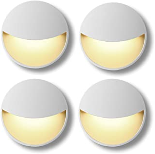Plug-in LED Night Light Lamp with Auto Dusk to Dawn Sensor, Sensor Light Control 0.2W Warm White for Bedroom, Bathroom, Kitchen, Hallway, Stairs, Energy Efficient, Compact 4-Pack Yellow
