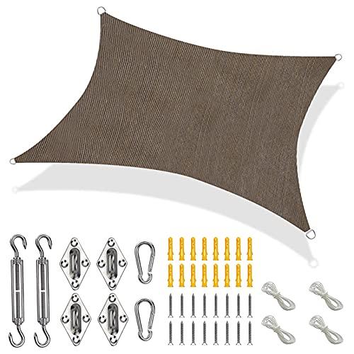 GJXJY Toldo Vela de Sombra Jardin, Toldos Rectangular Exterior, 85% Protección UV Transpirable HDPE para Patio de Terraza Camping