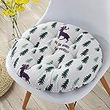 xmwm Gartenstuhl-Kissen ohne Stuhl, Rückenkissen, Niederlehner Kissen mit Bändern, Stuhlpolster für Bürostuhl und zu Hause, weicher Schaumstoff (Streifen, 38 x 38), Dschungel