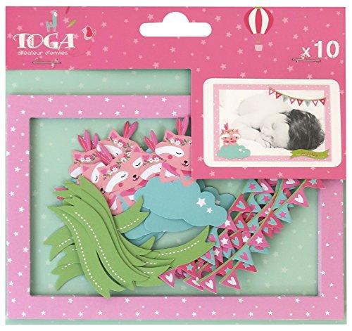 Toga geboorte FPD156, Leonard & Josepine fotolijst, meerkleurig, 10 x 15 x 0,1 cm