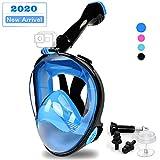 DEKINMAX Full Face Snorkel Mask,2020 Newest Ultralight Anti Fog & Anti Leak Snorkeling Mask,...