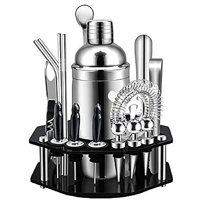 X-cosrack Bar Set,19-Piece Cocktail Shaker Set ...