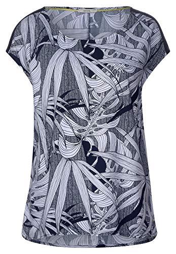 CECIL Damen 341471 Bluse per pack Mehrfarbig (deep blue 20128), XX-Large (Herstellergröße:XXL)