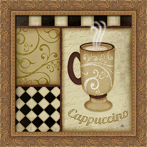 Pugh, Jennifer 20x20 Gold Ornate Framed Canvas Art Print Titled: Cappuccino