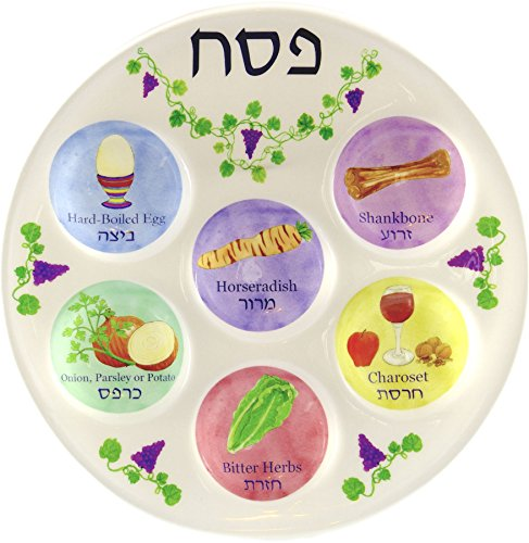Disposable Plastic Seder Plate for Passover, Pack of 1