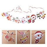 Amosfun Banderines colgantes de Navidad con diseño de muñeco de nieve y casa de Navidad para fiestas de Navidad y Año Nuevo