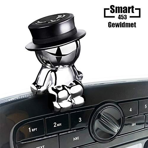 Magnet Handyhalterung für Smart 453, Kreativer Dekorativer Puppenhandyhalter Magnetische Autohalterung für Smart 453 Forfour Fortwo (Schwarz)