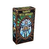 QIANGU Tarot, Tarot Illuminati Kit 78 Cartas Deck Adivinación Destino Fiesta Familiar Juego de Mesa Juguete