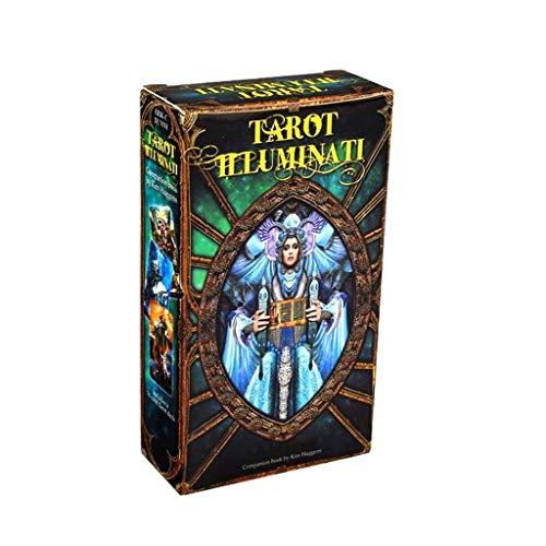 BLEUNUIT Tarot Illuminati Kit Tarots Karte, Tarot Illuminati Kit 78 Karten Deck Wahrsagerei Schicksal Familie Party Brettspiel Spielzeug