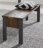 trendteam smart living Wohnzimmer Bank Sitzbank Prime, 140 x 44 x 35 cm Old Wood NB für innen ohne Rückenlehne