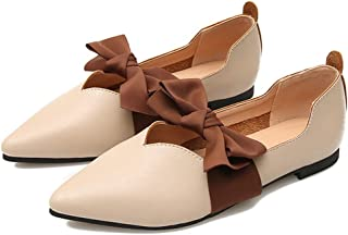 Damesschoenen met één punt Strik Puntschoen Strik Platte schoen Slacker Schoenen Platte hak Bowtie Zwangerschapsschoenen