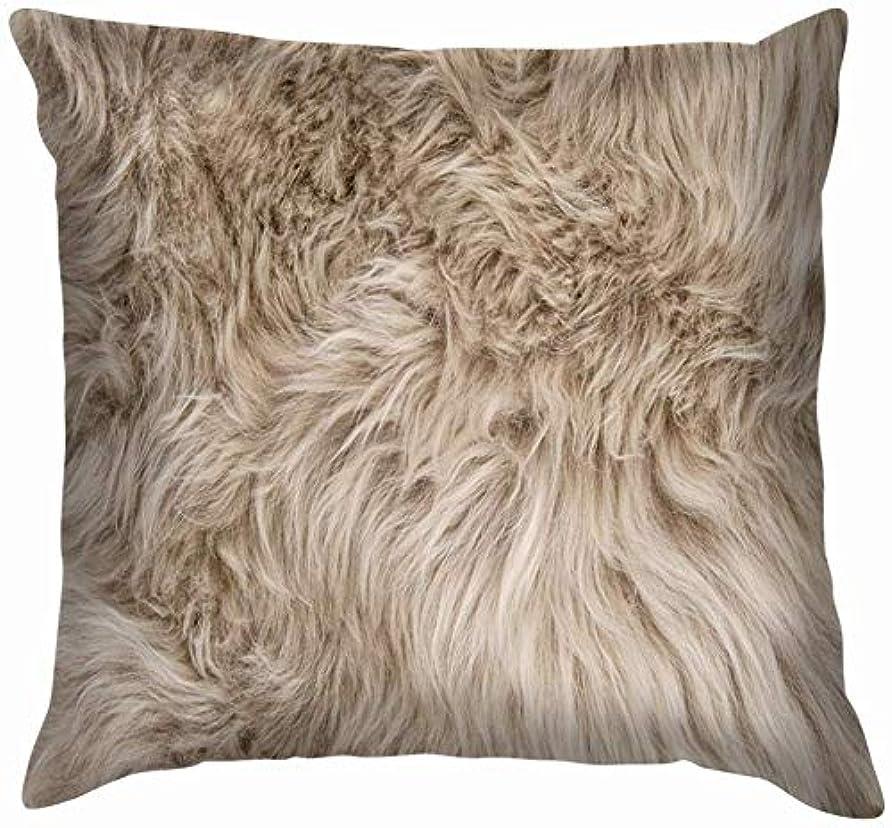 学んだ甘美なコンデンサーナチュラルシープスキンラグウールテクスチャスロー枕カバーホームソファクッションカバー枕カバーギフト45x45 cm