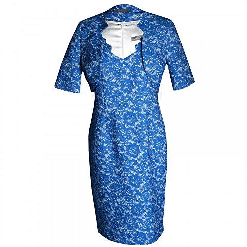 Michaela Louisa Capped Sleeve Shift Dress and Jacket 20 Blue