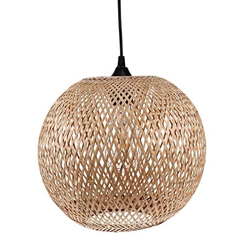 FRCOLOR Lámpara Colgante de Bambú Lámpara de Techo Antigua Estilo Japonés Estilo Chino Lámpara de Techo Lámpara de Techo para Sala de Estar Restaurante