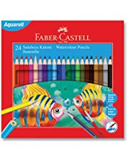 Faber-Castell 5171110624 Karton Kutu Aquarel Boya Kalemi, 24 Renk