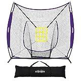 Zupapa 7 x 7 Feet Baseball Portable Hitting Pitching Practice Net, Baseball Backstop...
