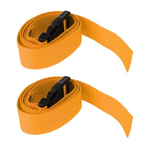 Sharplace 2 Pezzi di Cinghie per Trolley da Golf con Cintura a Sgancio Rapido Materiale in Nylon 5 Colori Opzionali - Giallo