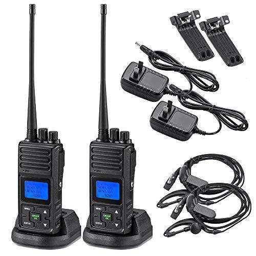 2 Way Radio 5 Watt Long Range, SAMCOM 20 Channels Programmable Walkie Talkie,Rechargeable Hand-held UHF Business Ham Radio for Skiing Hiking Hunting,2 Packs