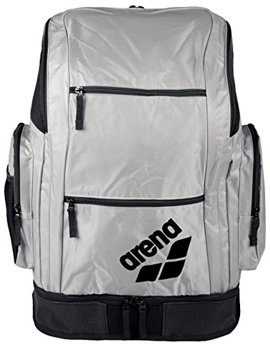 Arena Spiky 2 Large Backpack, Zaino Nuoto da 40 Litri Unisex Adulto, Grigio (Silver Team), Taglia Unica