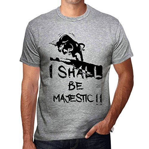 Majestic Gris Camiseta Camiseta con Palabra Camiseta Regalo
