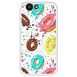 Hapdey Funda Transparente para [ ZTE Blade A512 ] diseño [ Donuts con Chocolate y chispitas de Colores ] Carcasa Silicona Flexible TPU