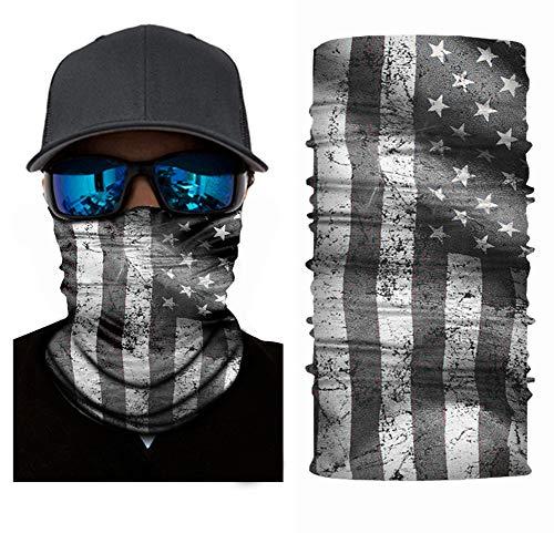 Nuoxinus Balaclava American Flag Outdoor Face Mask, Neck Gaiter, Headwear, Face Sun Mask, Magic Scarf, Bandana, Headband, Dust-proof UV Protection for Halloween Motorcycle Cycling Fishing Skiing