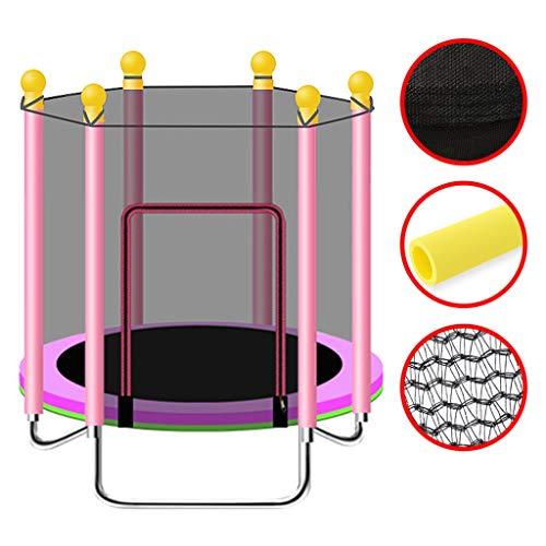 Kinderen Trampoline Trampoline Met Net Buitentuin Springen Bed Ouder-kind Fitness Trampoline, Lager Ongeveer 250kg (Color : Pink, Size : 120 * 120cm)