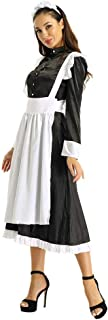 QJHDO Nuisettes Et Deshabillés Femmes Adulte Femme De Chambre Cosplay Costume Tenue Clubwear Femme Avant Boutonné Longue M...