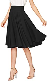Emma & Giovanni - A-Line Elegant Pleated Skirt High Waist Midi Skirt (Made In Italy) - Women