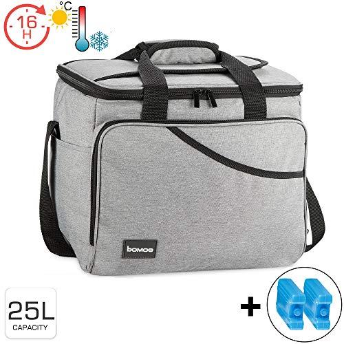 bomoe Kühltasche faltbar IceBreezer KT39 - Outdoor Kühlbox für unterwegs - 39x28x29 cm - 25 Liter - Auch als Picknicktasche nutzbar - Perfekt fürs Grillen oder Festival