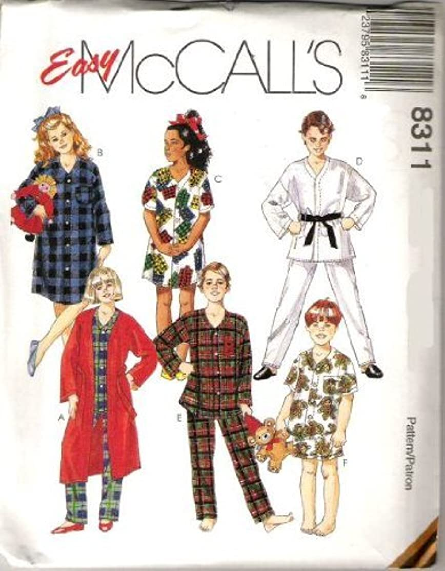 McCall's Sewing Pattern 8311 Boy's & Girl's Robe, Nightshirt and Pajamas, Size LG (12, 14)