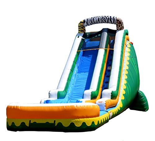 Find Discount JumpOrange Commercial Grade Inflatable 22' Jungle Zoo Marble Titan Party Water Slide, ...